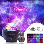 Foumt StarryLight Sterren Projector - Galaxy projector - Muziek box bluetooth & usb-functie - Zwart