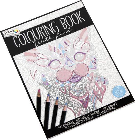 Afbeelding van Kleurboek Craft Sensations - 26 Designs - Kleurboek Voor Volwassenen - Zilver Of Goud Folie