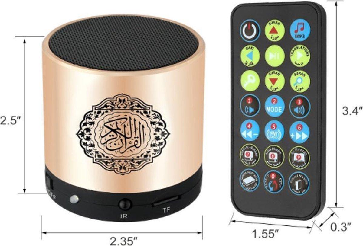 Nurani Koran lamp - Mini Koran Speaker - Quran speaker - Audio & Hifi - Draadloze speakers - Smart Speakers - Quran lamp - Led Lamp Touch - Goud