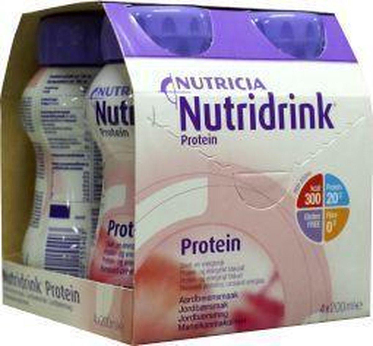 Nutridrink Protein aardbei - 4 x200 ml