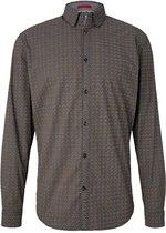 Tom Tailor Denim Lange mouw Overhemd - 1022210 Blauw (Maat: L)