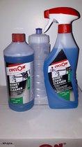 1x  Olie cyclon bionet triggerspray  + 1x Cyclon Bionet Ontvetter 1 liter + drinkbus