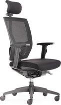 BenS 807H-Synchro-3, met hoofdsteun.Onze luxe ergonomische bureaustoel ( ook geschikt voor langere mensen ) met vele instelmogelijkheden, zitdiepte, lendesteun, 3D armlegger en met een Donati mechaniek. Voldoet aan de ARBO / NEN 1335 norm