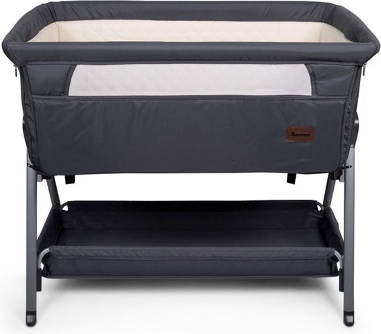 Product: Baninni Co Sleeper Wieg - Aanschuifwieg - Elia - Donkergrijs, van het merk Baninni