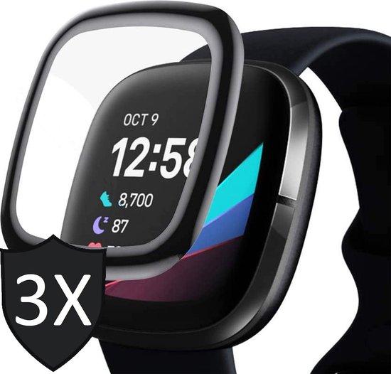 Fitbit Versa 3 Screenprotector - Screenprotector Fitbit Versa 3 - Full Screen Protector - 3 Stuks