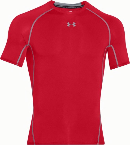 Under Armour HG Armour S/S Fitness Shirt Heren - Maat M - Under Armour