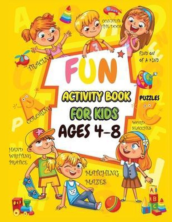 Fun Activity book for kids ages 4-8