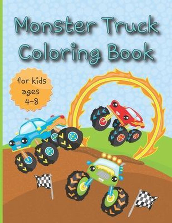 Monster truck coloring books for kids ages 4-8