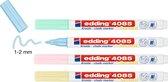 edding-4085 kalk window marker pastel assorti blister 4st 1-2mm / 4-4085-4-1PAS
