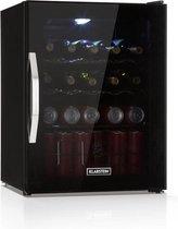 Beersafe L Onyx drankenkoelkast  LED 4 metalen roosters glazen deur
