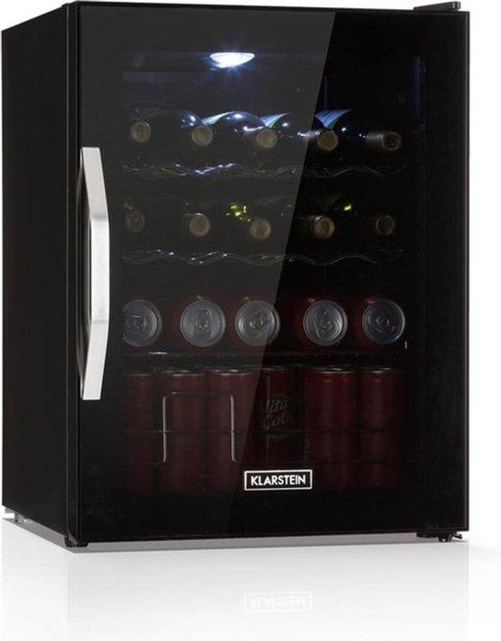 Koelkast: Beersafe L Onyx drankenkoelkast  LED 4 metalen roosters glazen deur, van het merk Klarstein