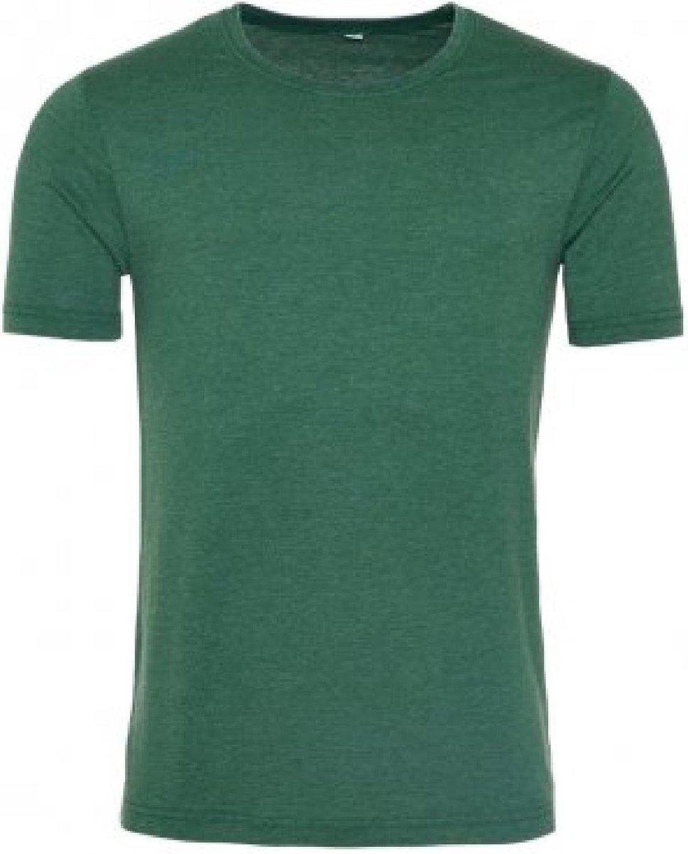 AWDis Herengewassen T-Shirt (Gewassen fles groen)