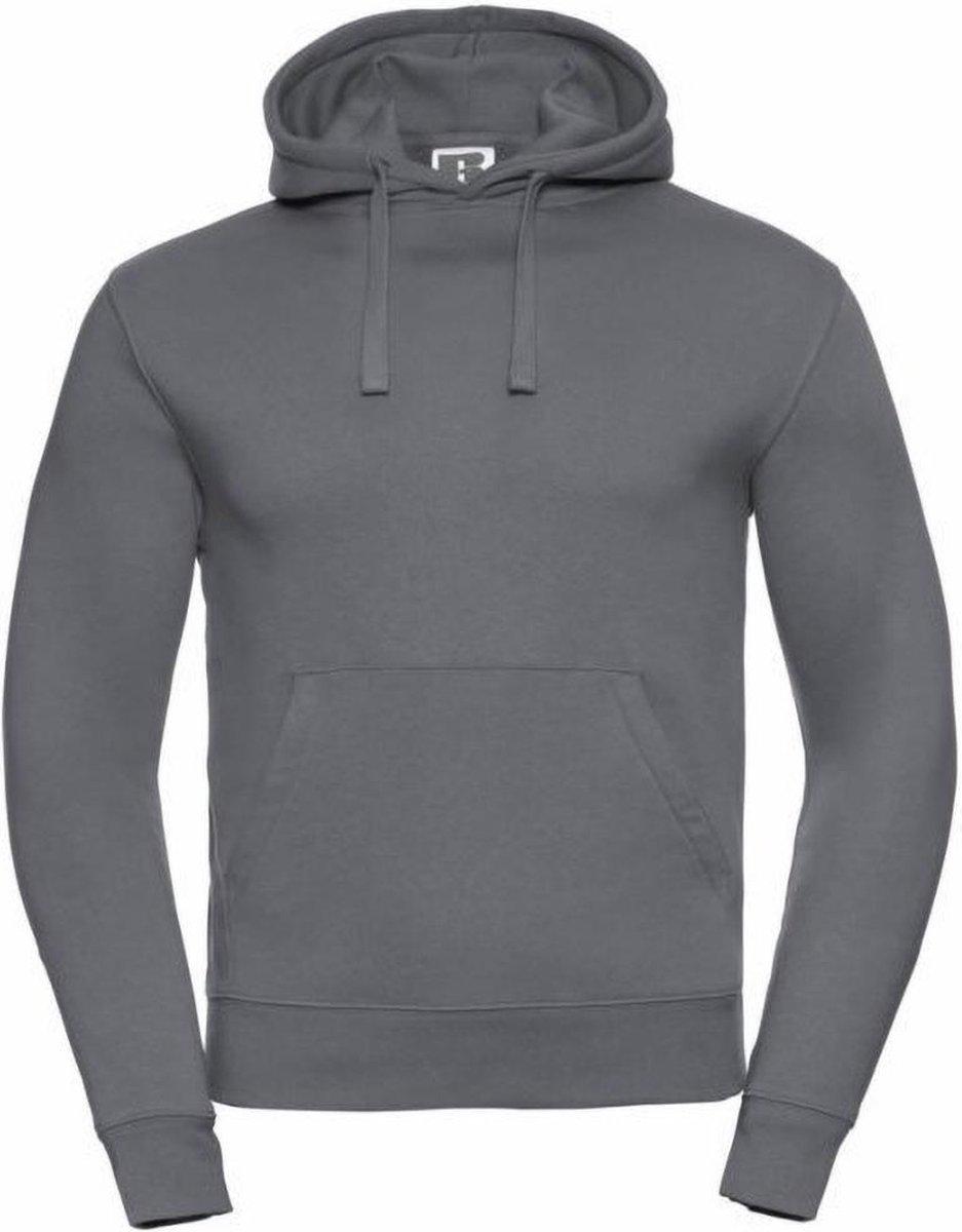 Russell Heren Authentieke Hooded Sweatshirt / Hoodie (Konvooi Grijs)