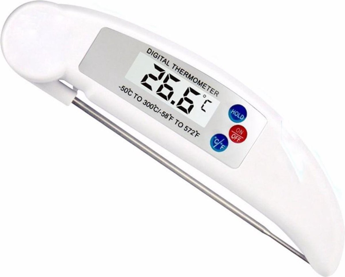 Able & Borret | Vleesthermometer | BBQ thermometer | Kernthermometer | Wit