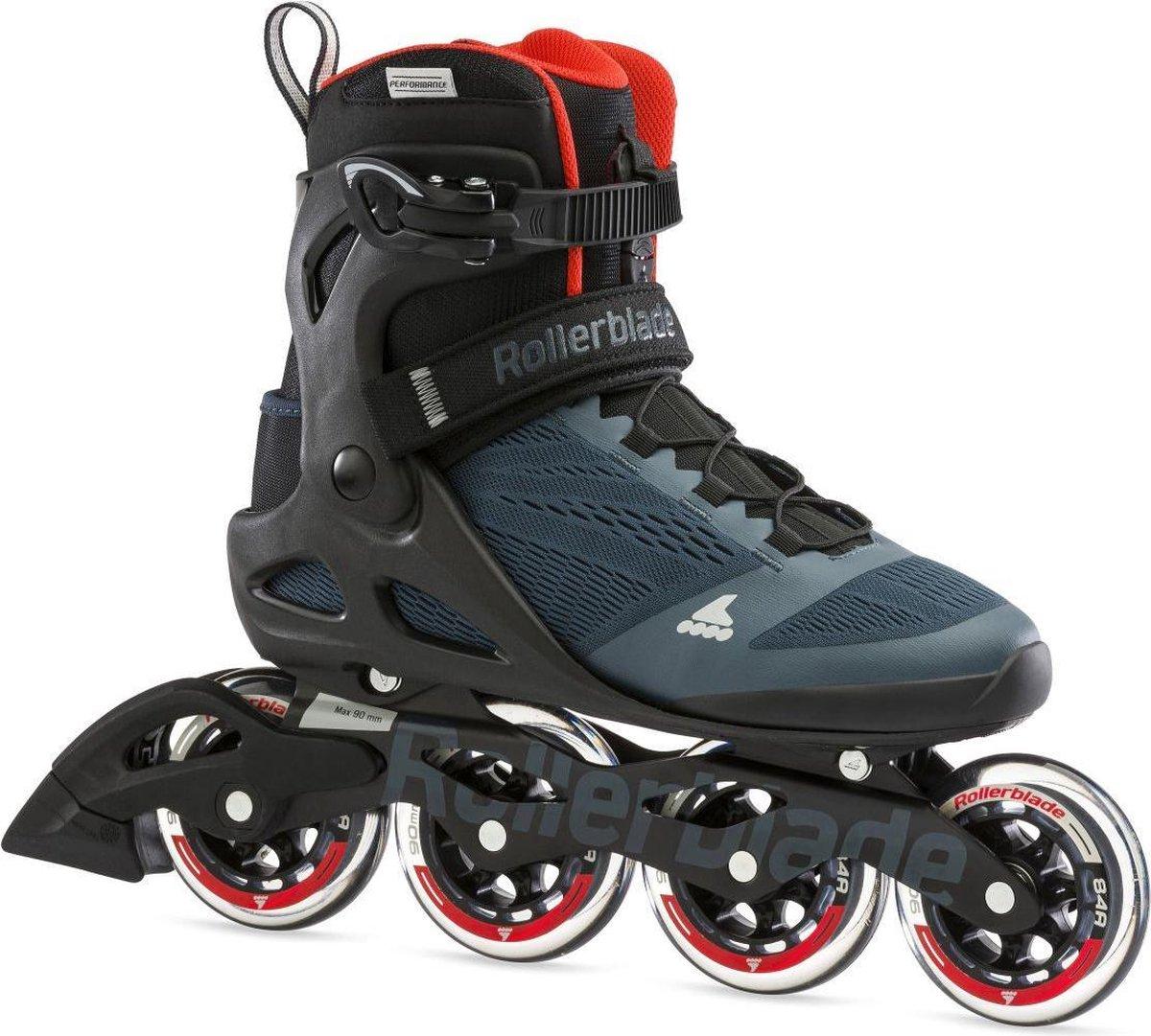 Rollerblade Macroblade inline skates 90 mm orion blue / spicy orange