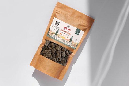 Kivo Petfood graanvrije hondenbrokken - Verse Zalm - PROEFZAKJE 300 gram - met verse vis, groenten, fruit & kruiden!