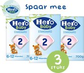 Hero Baby Standaard opvolgmelk 2 (6-12mnd) 3 STUKS - met melkvet & zonder palmolie -
