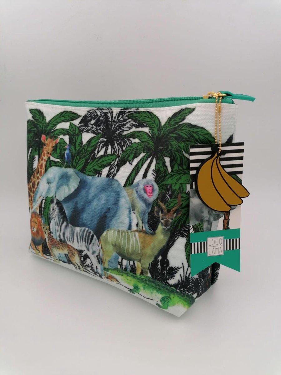 LOCO LAMA - Toilet Tas - Safari - Jungle - Dieren