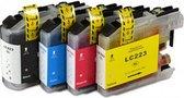Nu Actie! Brother LC-223 Multipack 2 x ( 8 cartridges )- Huismerk XL Hoge capaciteit