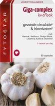 Fytostar Giga-complex knoflook – Gezonde bloedsomloop & aderen – Voedingssupplement – 80 capsules