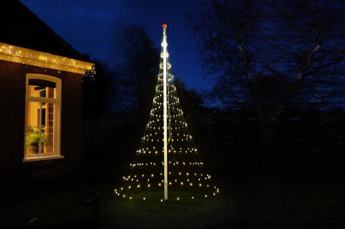 Vlaggenmast Kerstboom 400 LED 3D Warmwit kopen