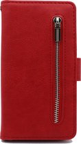 Oppo A52 & Oppo A72 Hoesje Rood - Hoge Kwaliteit Portemonnee Book Case met Rits