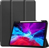 iPad Hoes voor Apple iPad Air 2020 Hoes Cover - 10.9 inch - Tri-Fold Book Case - Apple Pencil Houder - Zwart
