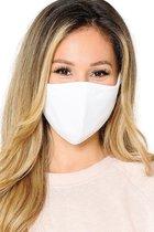 Premium kwaliteit katoen mondkapje - mondmasker - gezichtsmasker | herbruikbaar / Wasbaar | Wit - AWR
