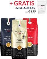 O'ccaffè - Premium Italiaanse koffiebonen Proefpakket XL   3 x 1kg   Barista kwaliteit