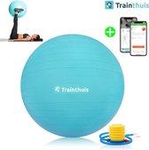 Trainthuis yoga bal - Fitness bal - Swiss Ball - Gym bal - Pilates bal - Zitbal - 65cm - incl pomp