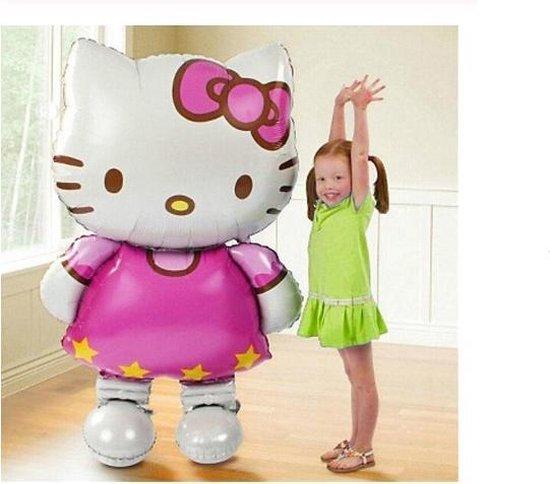Mega/Groot/116X68cm/Grote/Hello/Kitty/Folie Ballon/Voor/Verjaardag/Kinderfeestje/Babyshower/Geboorte/Opblaasbare/Lucht/Ballon