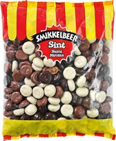 Chocolade Pepernoten Mix Smikkelbeer XL ZAK 1 KILO! Sinterklaas cadeau