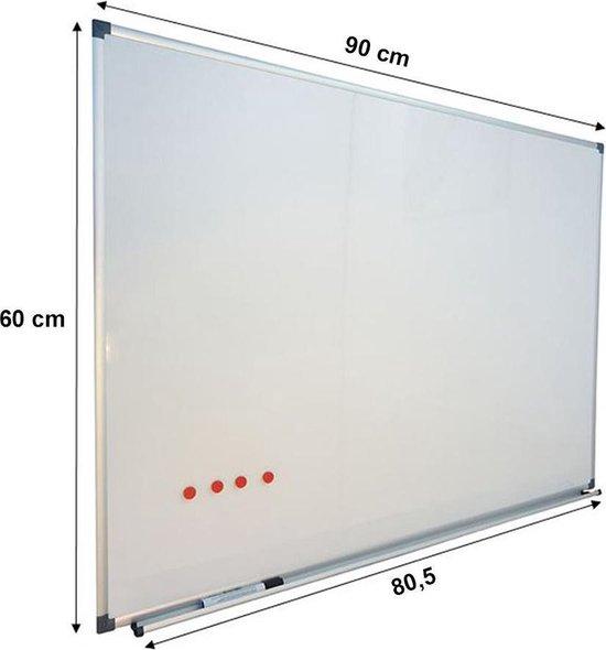 Whiteboard 60x90 cm - Magnetisch - Magneetbord / Memobord / Planbord / Schoolbord - IVOL