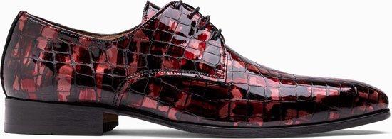 Paulo Bellini Dress Shoe Carbonia Crocolack Red
