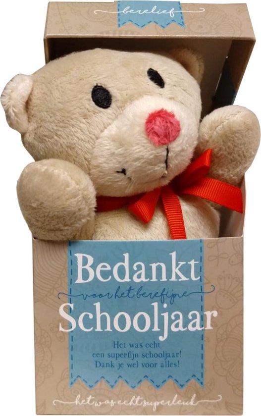 Knuffel - In doosje - Bedankt schooljaar