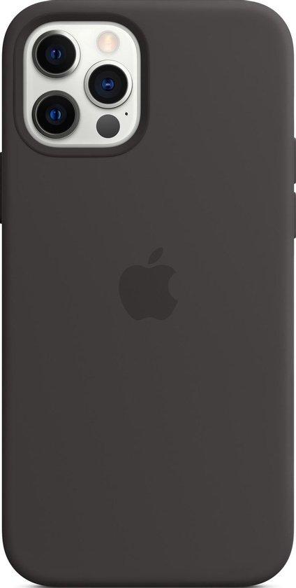 Siliconenhoesje met MagSafe voor iPhone 12 (Pro) - Zwart