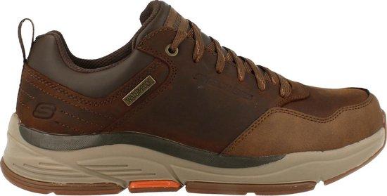 Skechers Sneaker Laag Heren Benago Relaxed Fit Waterproof - Bruin   43