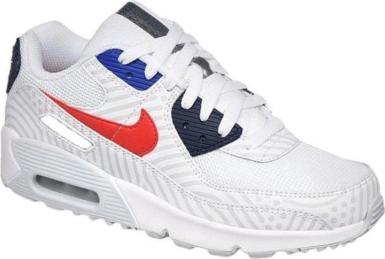 Nike Air Max 90 - Wit/University Rood - Maat 38.5