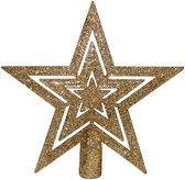 Christmas Gifts Kerstboom-piek 15 Cm Kunststof Goud
