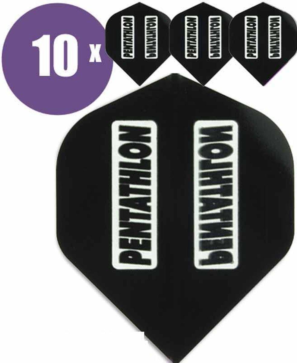 ABC Darts Flights - Pentathlon classic Zwart - 10 sets (30 st.) Dart Flights