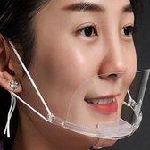 Doorzichtig mondkapje / mondmasker Horeca - Toerisme - receptie