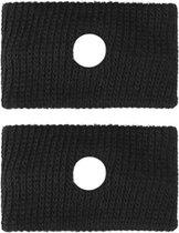 Set van 2 anti wagenziek bandjes - Polsbandjes tegen hoofdpijn en misselijkheid - Misselijkheid bandjes - Acupressuur band - Tegen reisziekte - 2 stuks! - Zwart