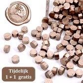 Sealing Wax 100 stuks - Zegellak - Seal - Lakzegel - Stempelen - 35 Gram - Brons tijdelijk 1+1