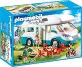 PLAYMOBIL Family Fun Mobilhome met familie - 70088 - Multicolor