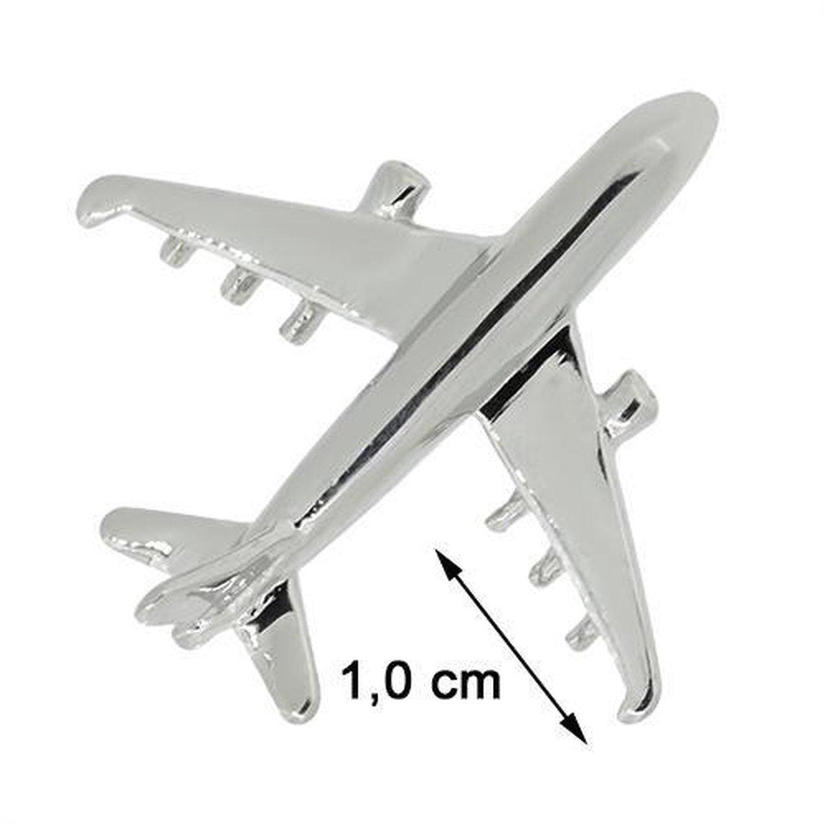 Blinx Jewels Stalen Hanger Vliegtuig