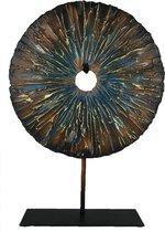 Liviza ornament op voet - vintage decoratie - 45,5 cm - decoratieve accessoires - decoratie woonkamer - beeldjes decoratie - woondecoratie
