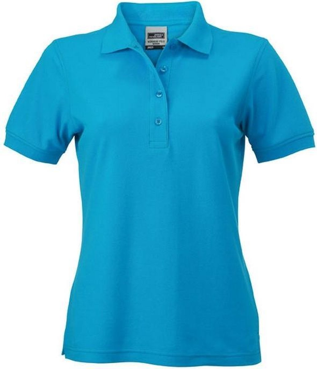 James and Nicholson Dames/dames Werkkleding Poloshirt (Turquoise)