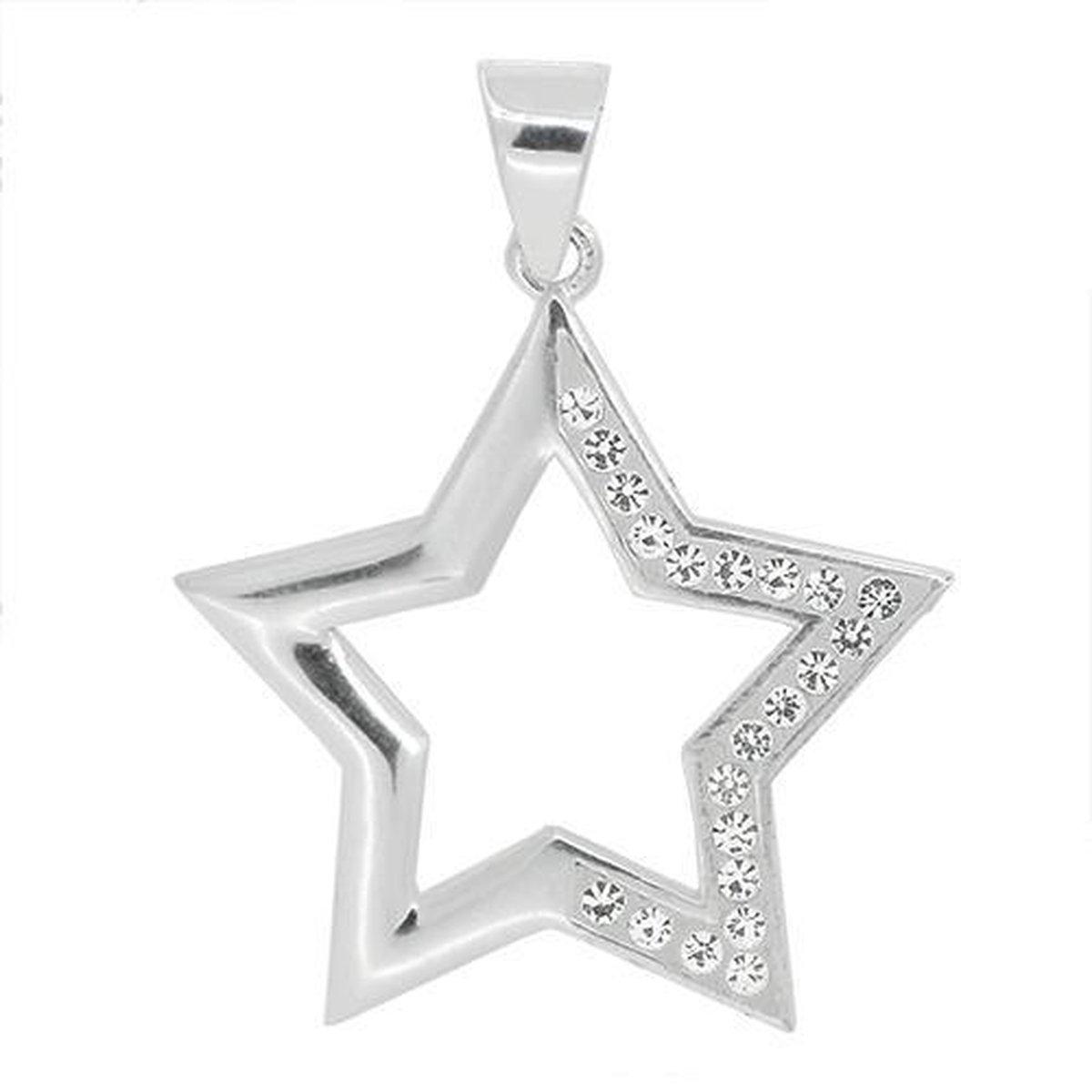 Blinx Jewels Zilveren Hanger Ster Steentjes Zirkonia
