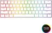 RK61 - RK61 Keyboard - Qwerty - RGB Mechanische Gaming Toetsenbord - Bluetooth - USB-C - Witte Kleur - Blue Switch