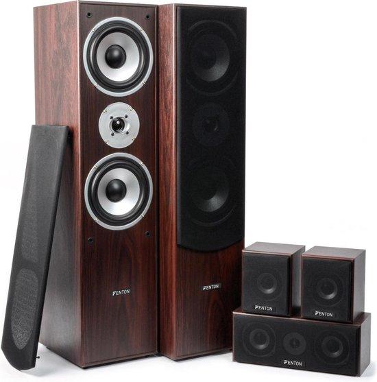 Fenton Thuis bioscoop speaker systeem - Walnoot - 5 delig